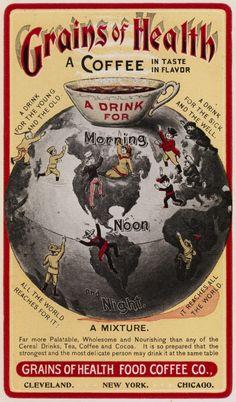 vintage ad; alternative to coffee