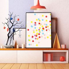 Confetti Holidays Poster Holidays Print Christmas by HeartsRoots