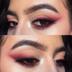 Anyone catch this on snap?? d e t a i l s- Smashbox 24HR shadow primer // Make Up For Ever M720(peach), (cherry), M844(burgundy), and M842(plum) eyeshadows // Tartelette palette top row and bottom row // Smashbox XRated mascara + @velourlashesofficial 'Flash It!' Lashes // ABH Dipbrow in Medium Brown // Laura Mercier Highlight 01 + Armani eyetint # 12