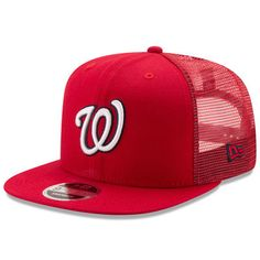 fc772c78972ac Washington Nationals New Era Trucker Patched 9FIFTY Snapback Adjustable Hat  - Red