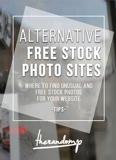 Alternative free stock photo sites: http://therandomp.com/blog/2015/10/10/alternative-stock-photo-sites-tips