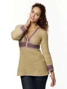 Simple Tunic | Yarn | Free Knitting Patterns | Crochet Patterns | Yarnspirations