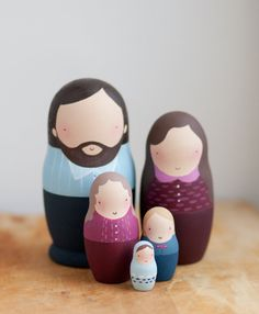 Nidificazione di bambole bambole matrioska di famiglia