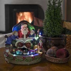Konstsmide Christmas Fibre Optic Story Telling Santa with Train