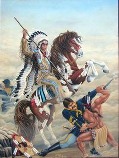 Battle of Little Big Horn Native American Warrior, Native American Wisdom, Native American Pictures, Native American Artwork, Red Indian, Native Indian, Native Art, Indian Art, American Indian Wars
