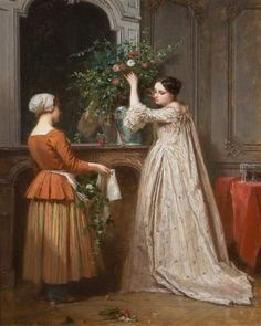 Antoine Emile Plassan<br />  Arranging the Bouquet