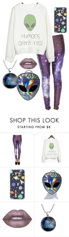 """Alien Galaxy Casual"" by dattabi on Polyvore featuring WithChic, Casetify, Disturbia and Lime Crime"