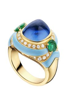 Rosamaria G Frangini | High Jewellery Modern | MyBLUE Jewellery | LuxeBeALady | Bulgari Sapphire Cabochon Ring