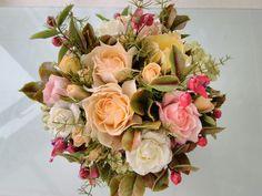 Cold porcelain, by Natasha Waldron Cold Porcelain, Bridal Bouquets, Floral Wreath, Clay, Wreaths, Home Decor, Clays, Wedding Bouquets, Floral Crown