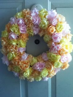 Upcycled Coffee Filter Wreath Rose Rosette