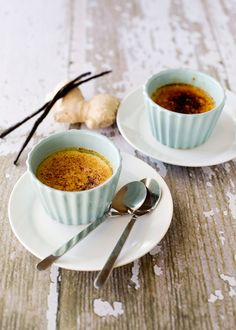 Ginger Mascarpone Creme Brulee  -  Creme brulee sounds fancy doesn't it?  But let me you in on a little secret, it is so easy to make.  Do not tell anyone, let them think that you had to slave to make this fancy dessert.  I have made creme brulee many times, but this version is one of my favorites #dessert