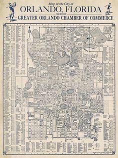 Old city plan digitally restored. Orlando Map, Orlando Florida, Lake Park, Vintage Maps, Old City, Pigment Ink, City Photo, Canon, Printer
