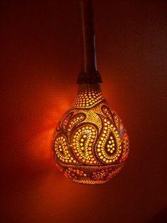 hanging gourd lamp