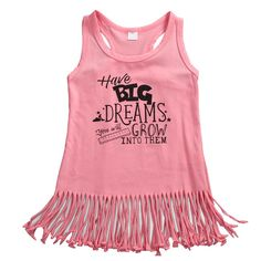 ed6d4bfeb0a 2017 New Style Fashion Pink Baby Girls Clothes Toddler Kids Tassel Sleeveless  Mini Sundress Tank Tops Dress 0 to