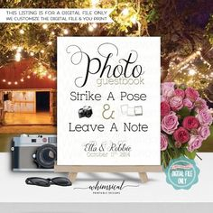 Fall Photo Guest Book Sign for Wedding Printable File Only