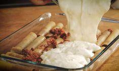 Κανελόνια με κιμά - Η απόλυτη συνταγή Dairy, Ice Cream, Cheese, Desserts, Food, Ice Creamery, Postres, Icecream Craft, Deserts