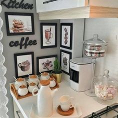 21 diy coffee bar cabinet ideas for the perfect cup 00014 Cafe Bar, Coffee Zone, Coffee Bar Home, Coffee Places, Beautiful Houses Interior, Kitchen Worktop, Perfect Cup, Home Renovation, Decoration