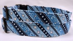 Blue with White Stars  Dog Collar by HalasPaws on Etsy