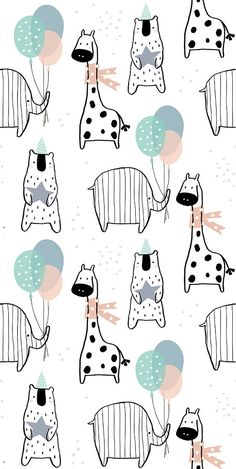 Cartoon Wallpaper, Cute Wallpaper Backgrounds, Cute Wallpapers, Stoff Design, Baby Fabric, Kids Poster, Baby Art, Pattern Illustration, Art Wall Kids