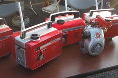 Honda E40 generator naast een Cuby