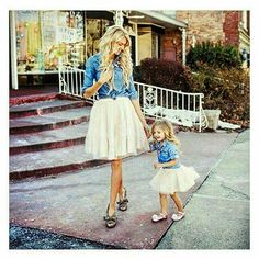 Baby Kids Clothes Set Mommy and Me Kids Girl Demin T shirt Tops+Skirt Dress  Family Clothes Outfits Set Dropshipping 1428629b7fcd