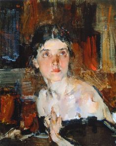 Nicolai Fechin, (1927-1933) Portrait of Alexandra  2 on ArtStack #nicolai-fechin #art