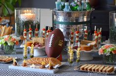 Game Day Party Table / Italian Pasta Bar, Buffet Style with Cost Plus World Market - Under the Table and Dreaming >> #WorldMarket