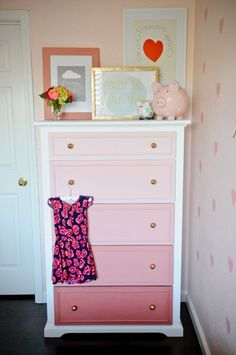 DIY Teen Room Decor Ideas for Girls | DIY Ombre Dresser | Cool Bedroom Decor, Wall Art