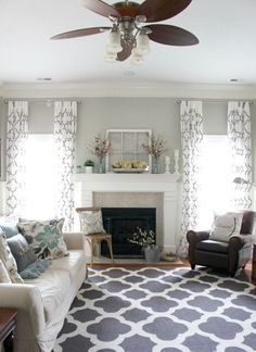 Stunning Living Room Curtain Ideas Comfortable Living Room 25