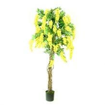 Kunststof bloemenboom Kiruna geel 180cm