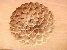 Vintage Japanese Kashigata Sweets Mold Kiku Chrysanthemum (F228)