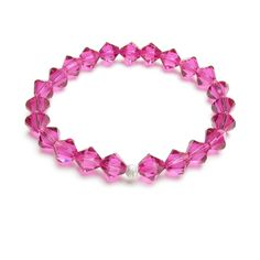 £15 The Amara crystal bracelet is perfect for the House of Colour winter palette, shown here in fuchsia pink, and then with alternate emerald green  and capri blue crystals - a bespoke piece.  See below for winter crystal colours, then simply choose from the list  displayed when when you 'Add to cart'. If you would like a mixture of  colours like the bracelet shown, please type in your requirements when you  'Add to cart'.  'Amara' means 'Lovely for ever' which is a beautiful sentiment for…
