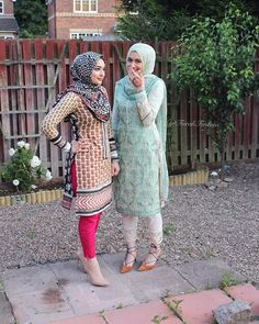 #tb to Eid Sometimes the struggle to find Pakistani dresses that compliment Hijabi's is unreal, but you know what.. I'll be wearing them multicoloured floral outfits with pride now! #ottd #pakistanistreetstyle #throwback #hijabifashion