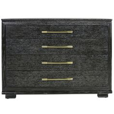 chest in between windows in bedroom?  1stdibs | Cerused Oak Bachelors Chest by Raymond Loewy for Mengel