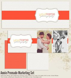 Annie Premade Photography Marketing Set by 7thavenuedesigns, $60.00