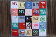 Show off your school pride (or high school memories) by stitching together a collection of oversized T's into a quilt. Get the tutorial at Sew Caroline »