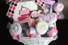 Sweet Confections Candy Basket - filled with 32 pieces of baby items