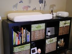 Change table idea, and cloth diaper storage