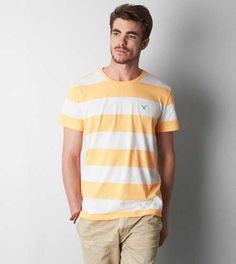 AEO Striped Crew T-Shirt - Buy One Get One 50% Off + Free Shipping