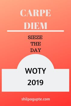 The word that will guide me this new year,  #WOTY #2019 #CARPEDIEM