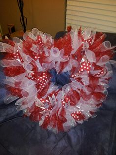 Valentines day deco mesh wreath                                                                                                                                                                                 More
