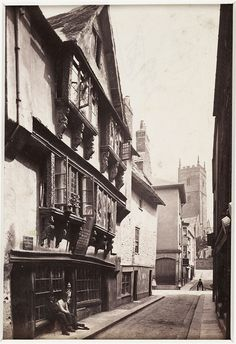 'Dartmouth, England, Foss Street, Old House' c. 1880 by National Media Museum