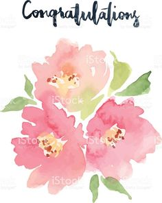 Image result for watercolor pink flowers
