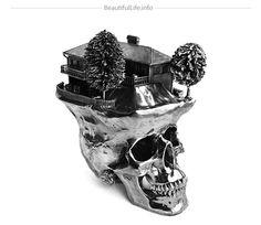 Skull Sculptures by Frodo Mikkelsen