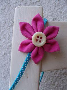 Haarband Harreifen Blüte Blume pink Sommer Kanzashi Kind Haarschmuck Blümchen Stoff Handmade DIY