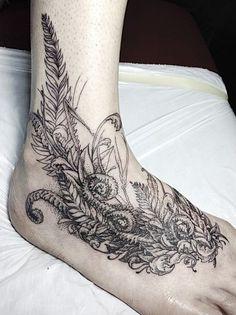 half sleeve tattoos with ferns Snail Tattoo, Fern Tattoo, Calf Tattoo, Leg Tattoos, Flower Tattoos, Body Art Tattoos, Sleeve Tattoos, Portrait Tattoos, Tattoo Ink