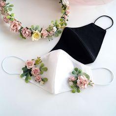 Easy Face Masks, Diy Face Mask, Cotton Bouquet, Diy Flower Crown, Bridal Mask, Princess Tattoo, Mask Design, Design Art, Design Ideas