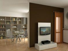 Fernsehwand als raumteiler  raumtrenner ideen raumteiler vorhang raumteiler regal weisse deko ...