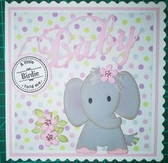 Baby card with elephant