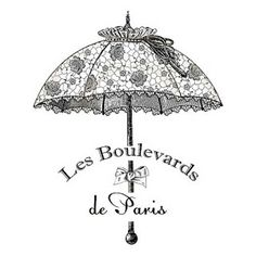 free printable - paris umbrella
